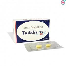 Tadalis SX 20mg (Tadalafil) 20mg Tablets